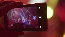 recording a concert with a cellphone