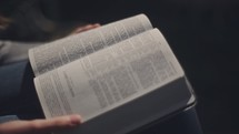 woman reading a Bible