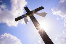 shrouded Easter cross
