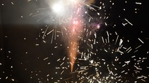 shooting fireworks