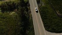 car over a rural road