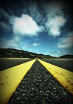 highway marker lines