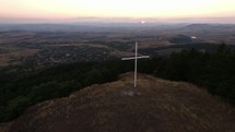 cross on a mountaintop