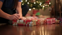 wrapping Christmas presents