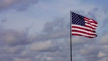 An American flag on a flagpole