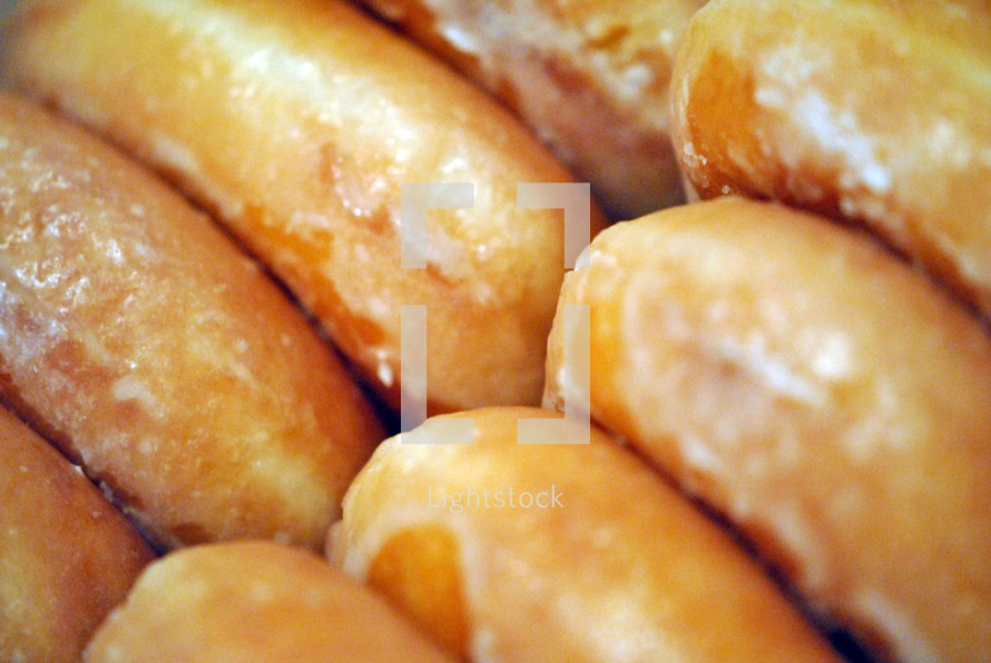 Glazed doughnuts, a sweet treat