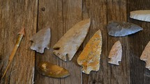 Real American arrowheads made 6000 to 9000 years ago.