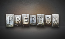 the word Freedom