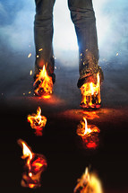 feet on fire