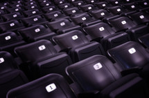 Numbered arena seats.