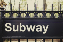 A subway sign