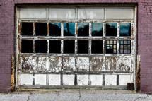 rusty garage door