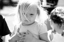 Contemplating child