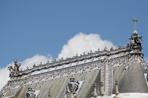 ornate rooftop of a church