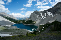 lake in a mountain valley