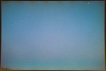 hazy sky at sunset