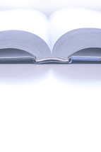 Closeup of the spine of an open book or bible