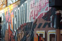 street art on a downtown wall