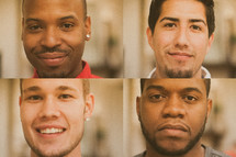 Faces of men for men's group