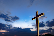 silhouette of a cross outdoors