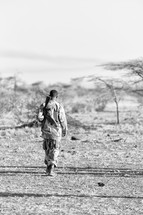 soldiers guarding the African border