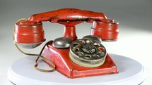 Antique toy telephone made in the  1940's.