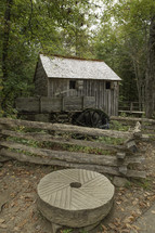 water wheel on an old mill