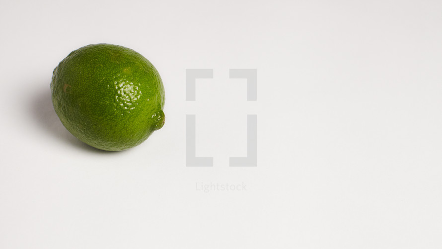 A lime isolated on white