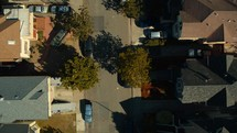 aerial view over a neighborhood in Oakland, CA