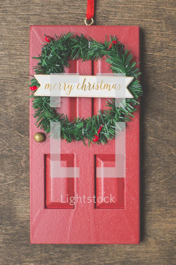 red door ornament