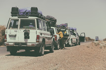caravan of Jeeps