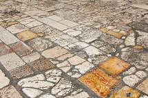 rock pavers in floor