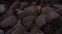 rocks along an Italian shore