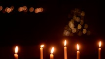 flickering candlelight