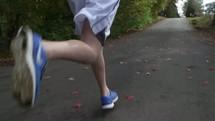 man on a morning jog