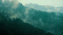 fog over a mountainside