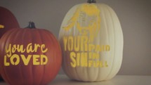 "Halloween pumpkin video perfect for trick or treat or ""trunk or treat"" promotions."