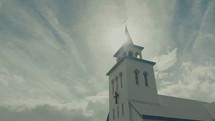 sunlight over a chapel