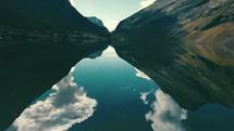 reflection of clouds on a lake in Norway