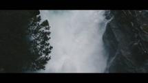 rushing water in a waterfall