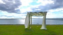 wedding altar outdoors
