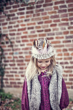 girl wearing a crown