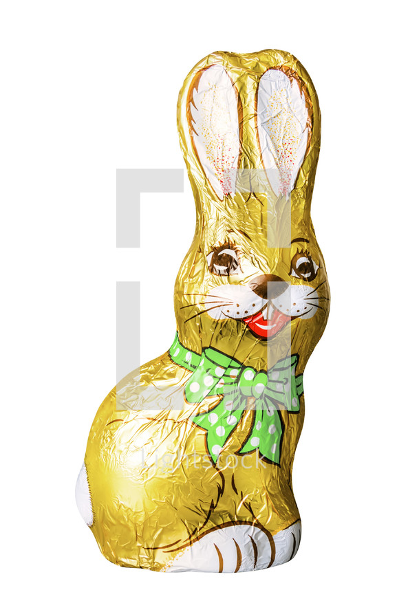 foil wrapped chocolate bunny