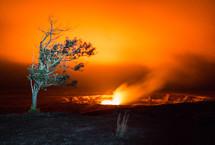 volcanic fire