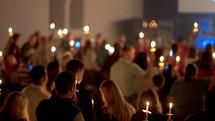 candlelight worship service