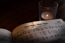 Silent Night in a hymnal