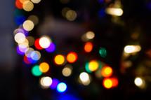 bokeh Christmas tree lights
