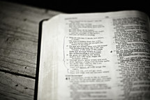 A Bible open to Isaiah 40:28
