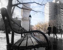 winter scene in a city
