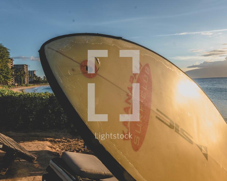 surfboard on a beach